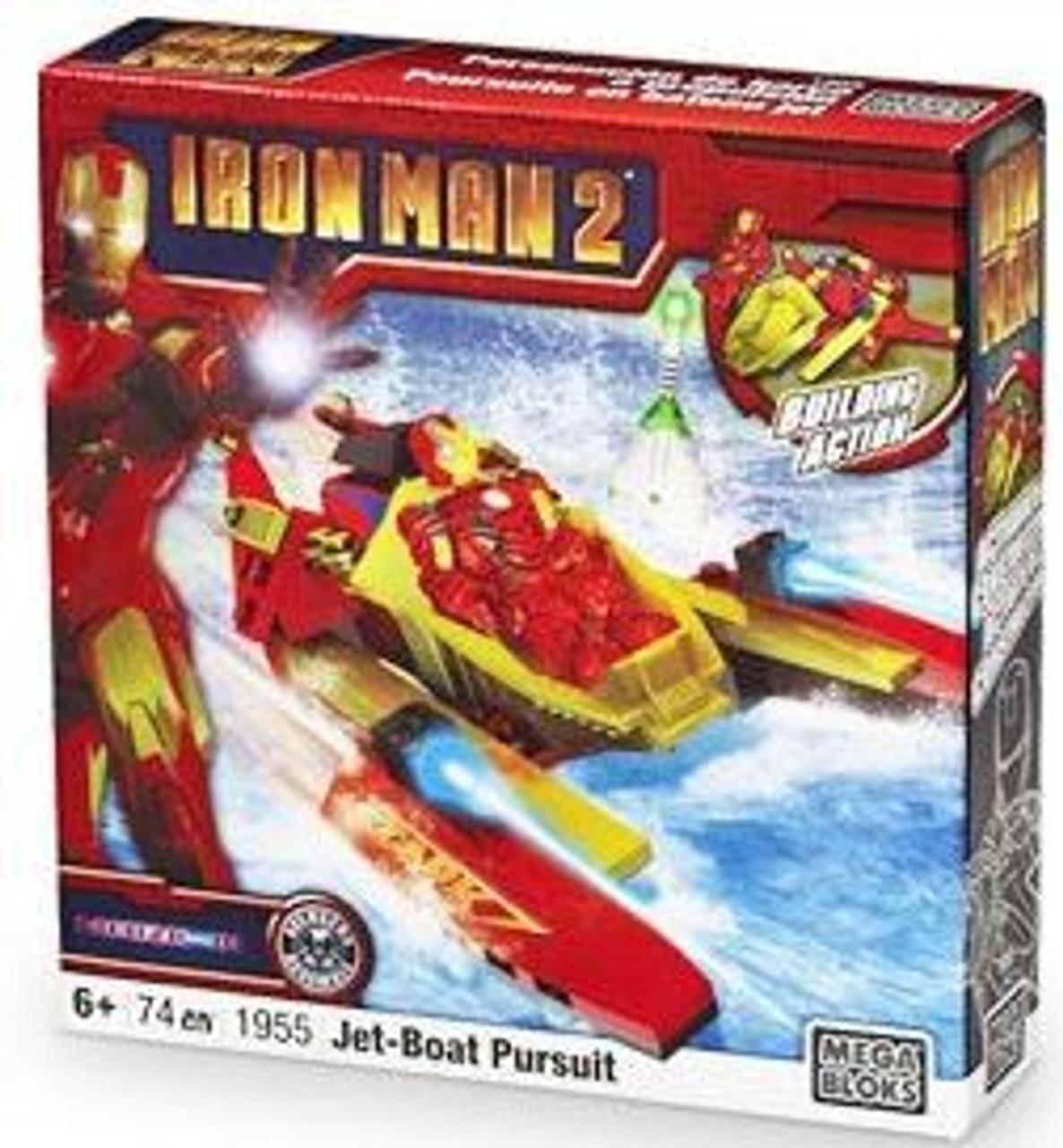 Mega Bloks Iron Man 2 Jet-Boat Pursuit Set #1955
