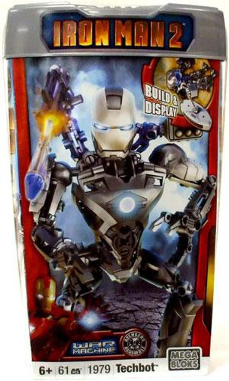 Mega Bloks Iron Man 2 War Machine Techbot Set #1979 [Damaged Package]