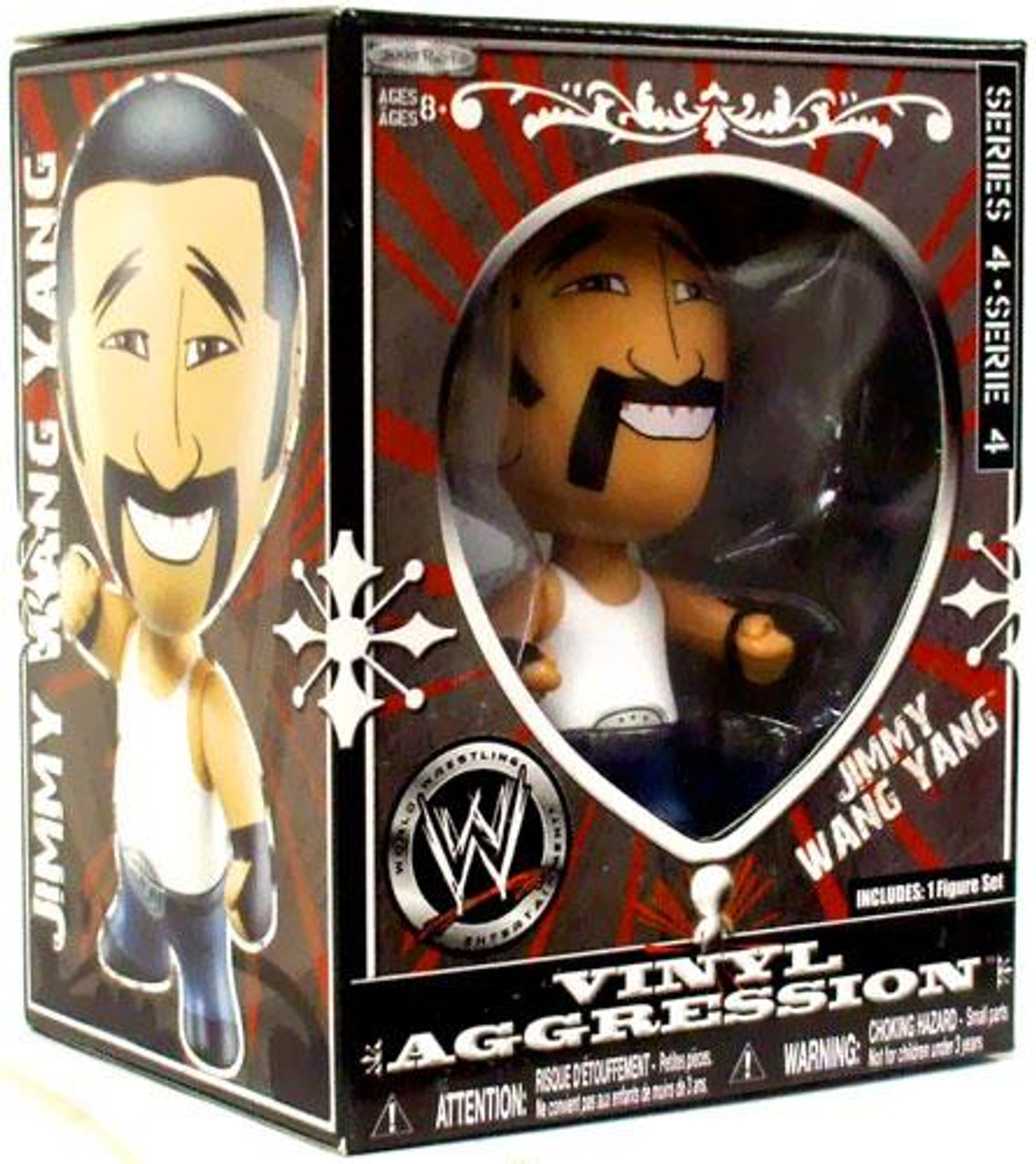 WWE Wrestling Vinyl Aggression Series 4 Jimmy Wang Yang 3-Inch Vinyl Figure