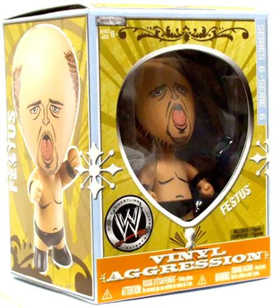 WWE Wrestling Vinyl Aggression Series 6 Festus 3-Inch Vinyl Figure