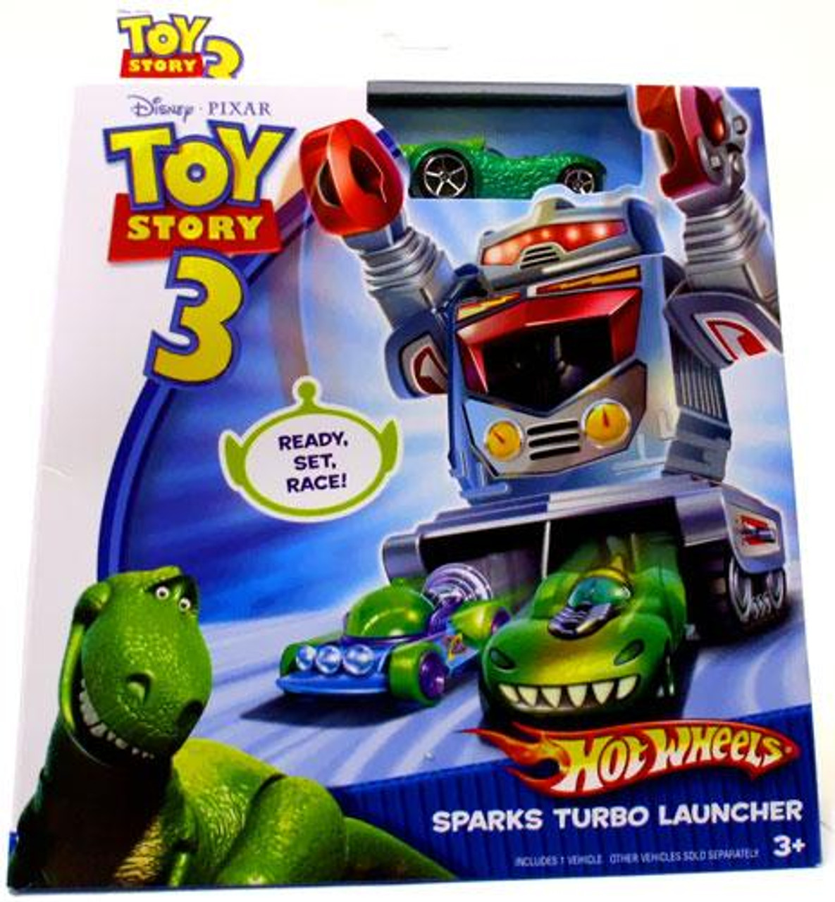 Toy Story 3 Hot Wheels Sparks Turbo Launcher Diecast Vehicle Playset