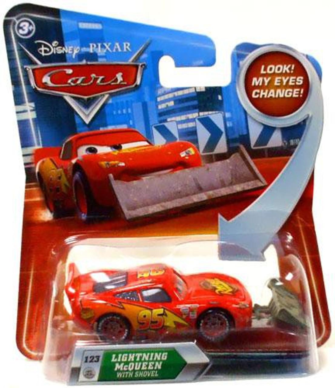 Disney Cars Lenticular Eyes Series 2 Lightning McQueen with Shovel Diecast Car