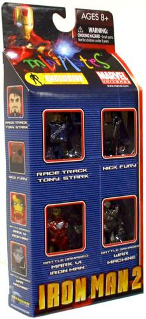 Marvel Universe Minimates Iron Man 2 Iron Man 2 Exclusive 9.5-Inch Minifigure 4-Pack