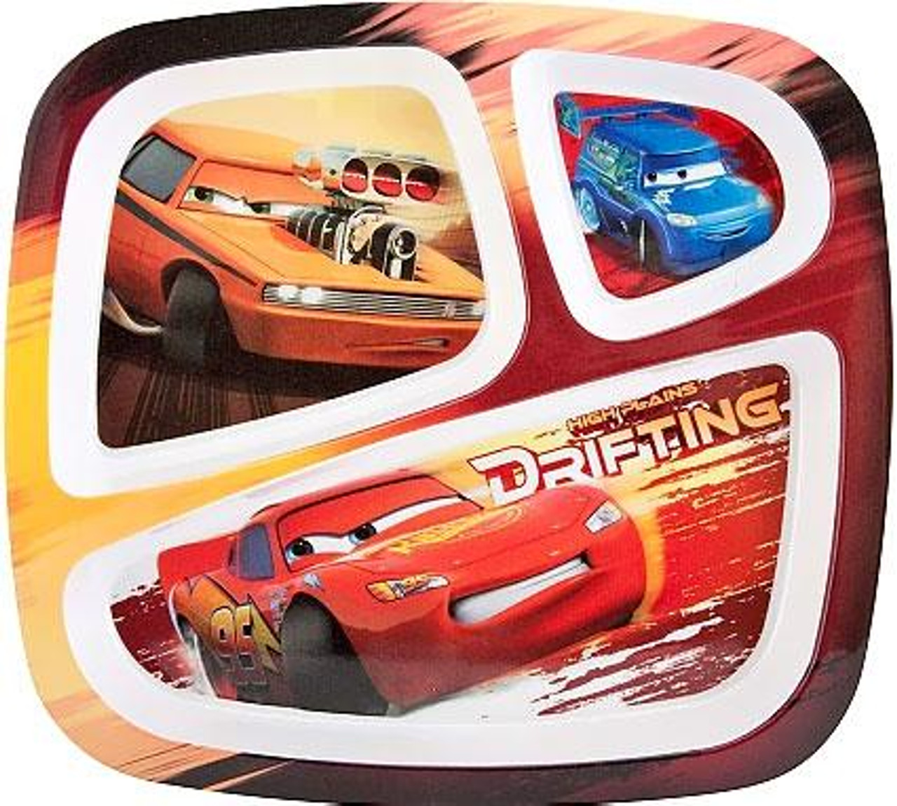 Disney Cars Cars 3-Section Food Tray