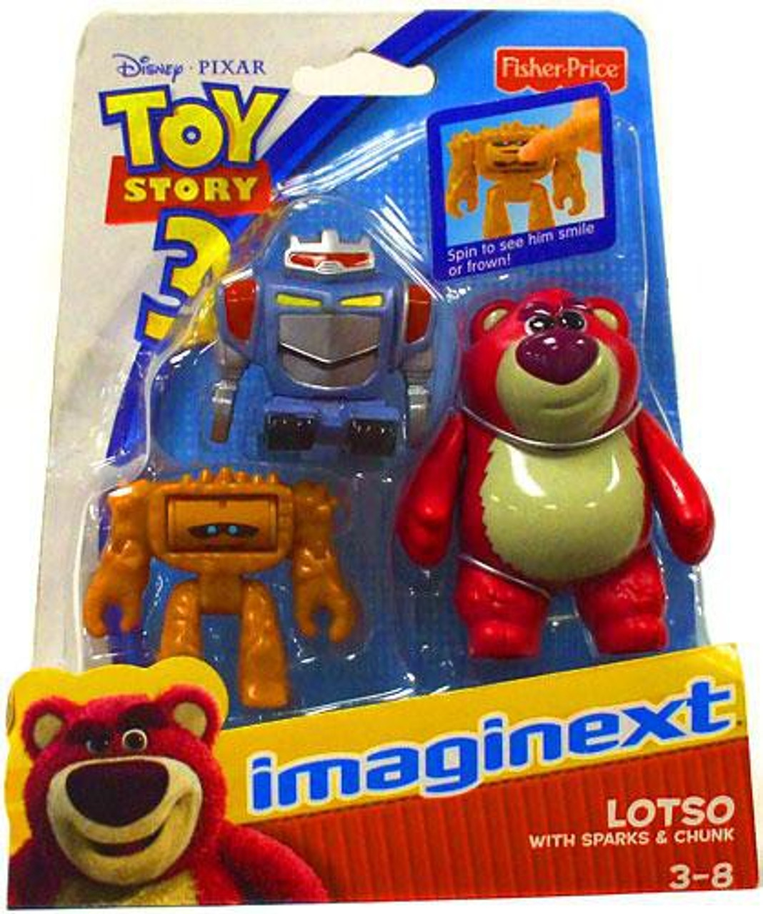 Fisher Price Toy Story 3 Imaginext Lotso, Sparks & Chunk 3-Inch Mini Figures