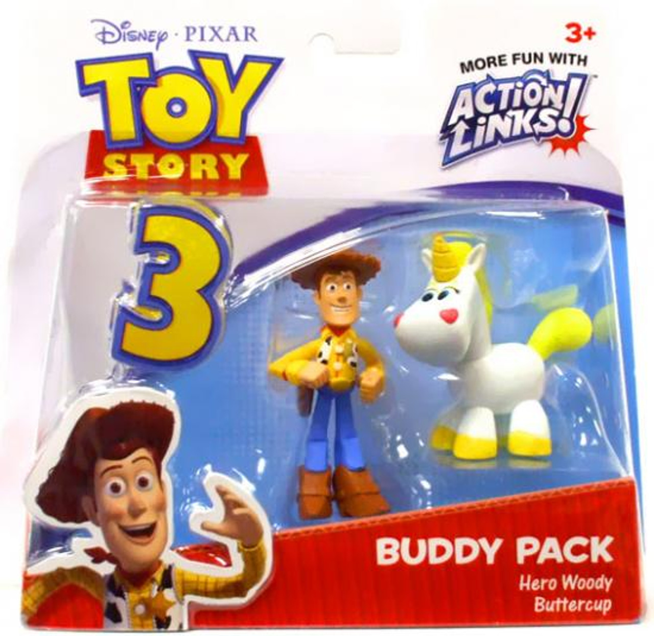 Toy Story 3 Action Links Buddy Pack Hero Woody & Pearl Buttercup Mini Figure 2-Pack