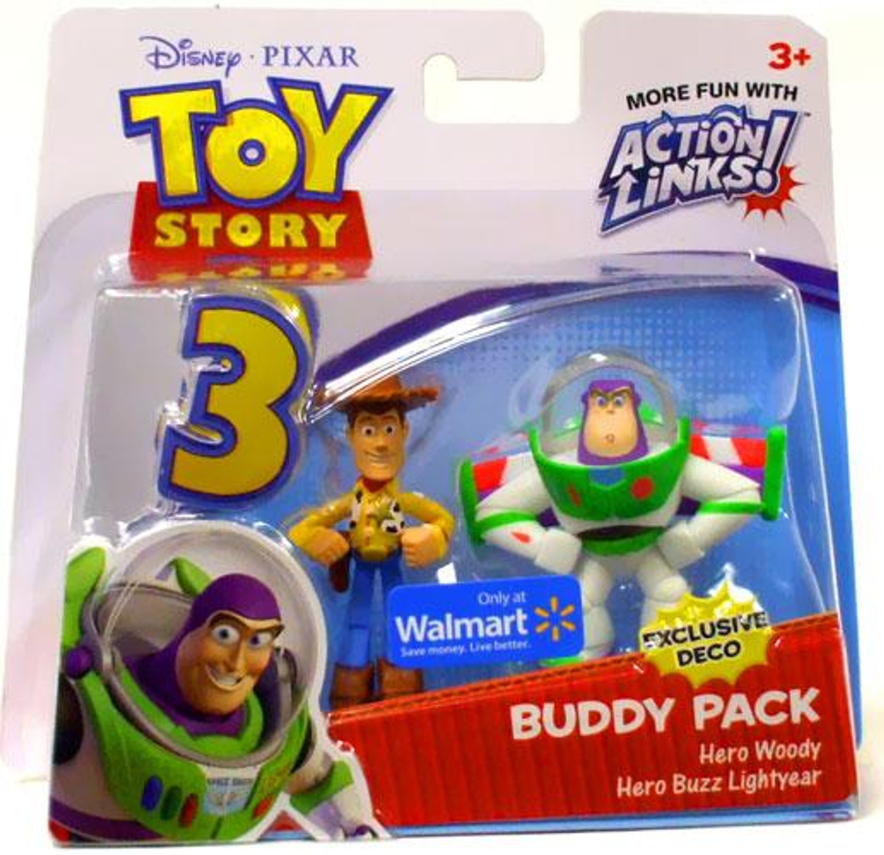 Toy Story 3 Action Links Buddy Pack Hero Woody & Hero Buzz Lightyear Exclusive Mini Figure 2-Pack [Exclusive Deco]
