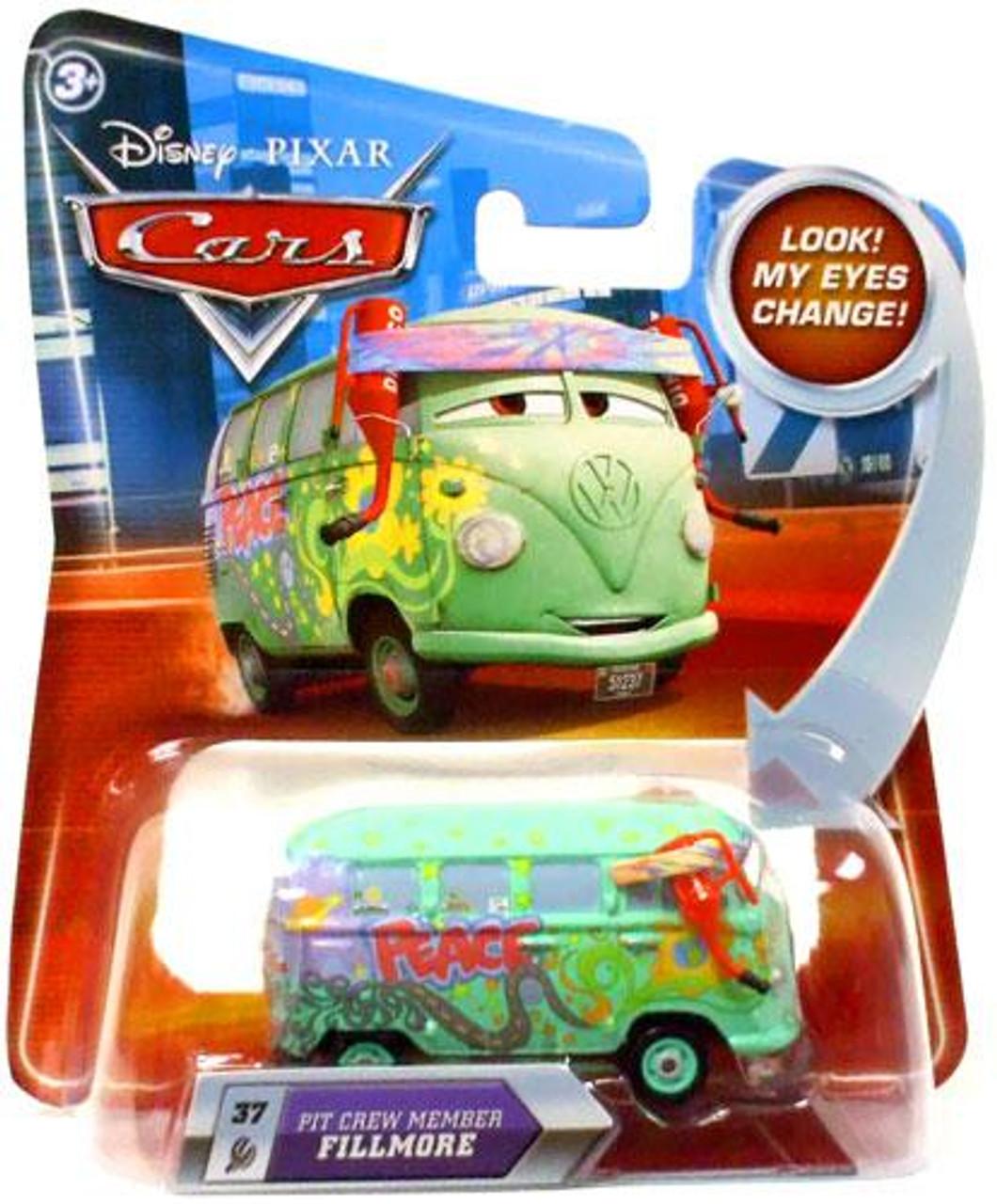 Disney Cars Lenticular Eyes Series 2 Pit Crew Member Fillmore Diecast Car