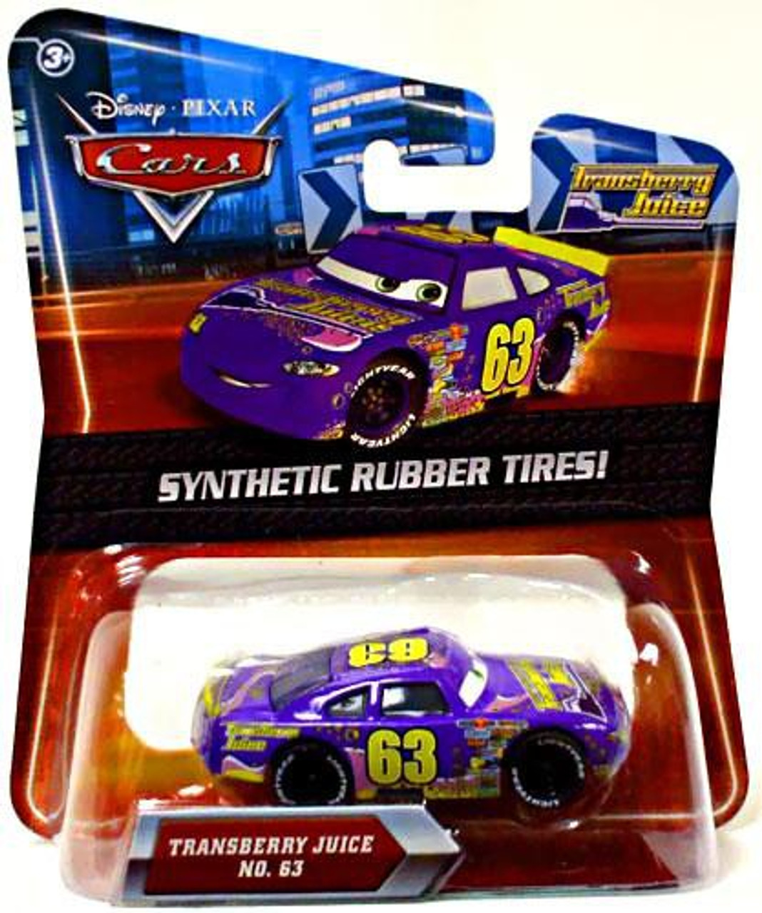 Disney Cars Synthetic Rubber Tires Transberry Juice Exclusive Diecast Car