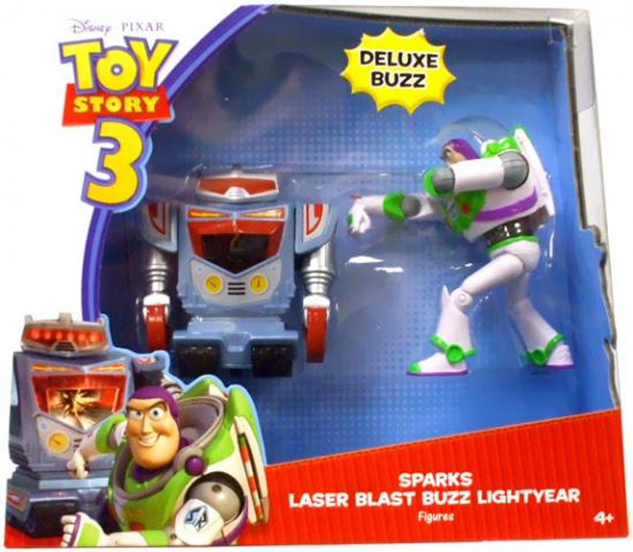 Toy Story 3 Deluxe Sparks & Laser Blast Buzz Lightyear Action Figure 2-Pack