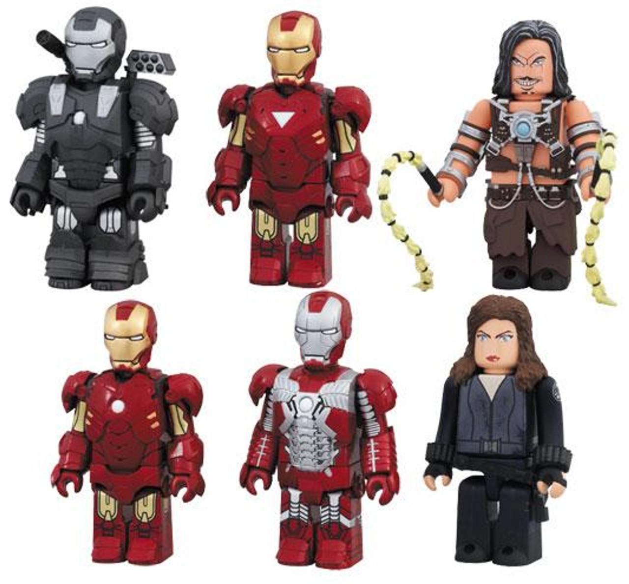 Kubrick Iron Man 2 Set of 6 Minifigures