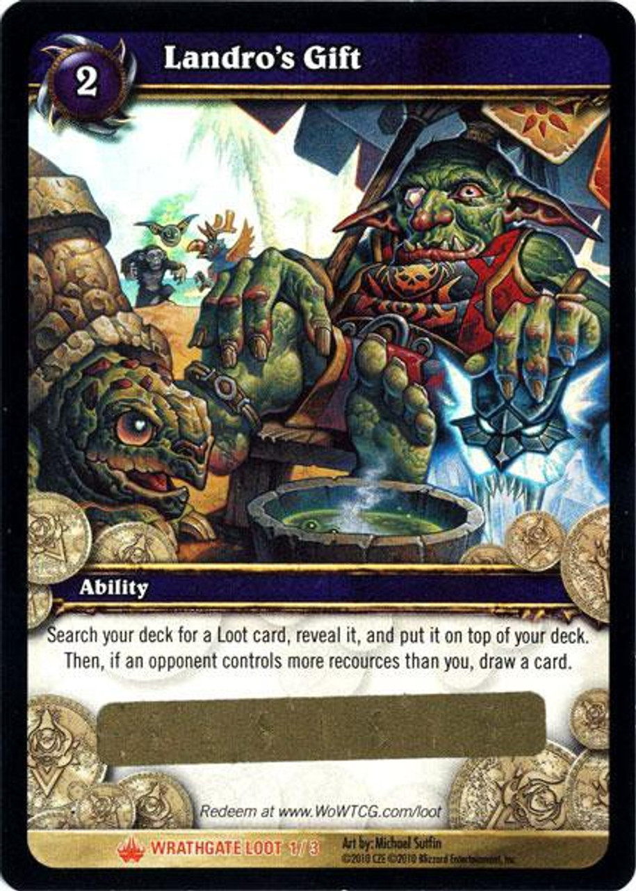 World of Warcraft Trading Card Game Wrathgate Legendary Loot Landro's Gift #1
