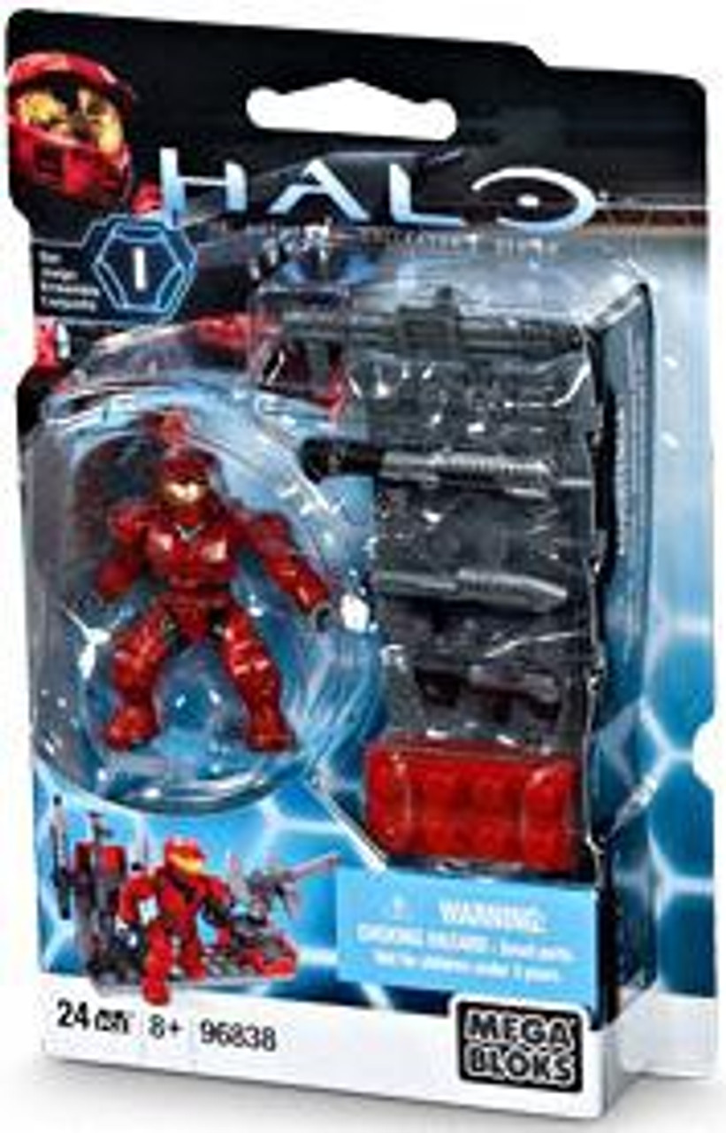 Mega Bloks Halo The Authentic Collector's Series Red Weapons Pack with UNSC Spartan Exclusive Set #96838