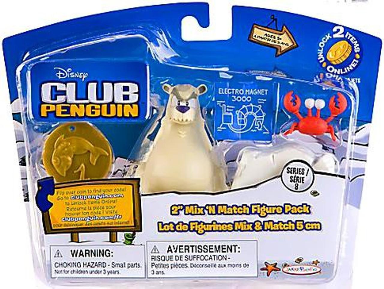 Club Penguin Mix 'N Match Series 8 Herbert P. Bear Esquire & Klutzy the Crab Mini Figure Set