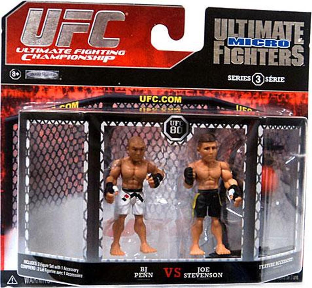 UFC Ultimate Micro Fighters Series 3 BJ Penn vs. Joe Stevenson Mini Figure 2-Pack [UFC 80]