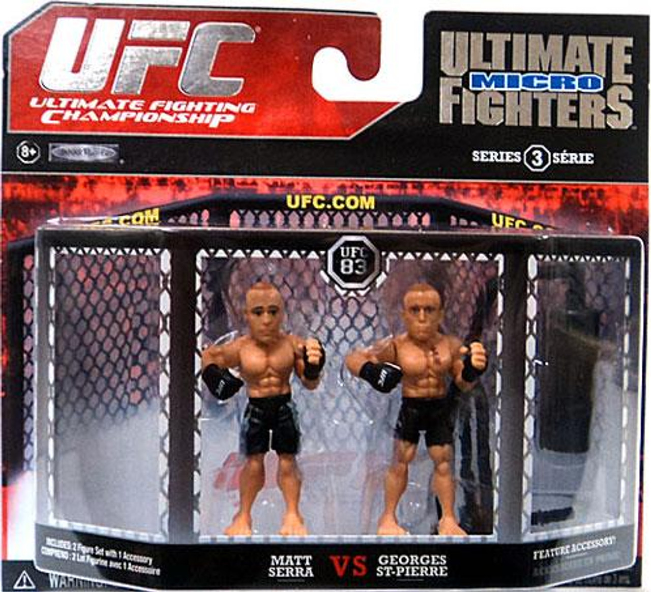 UFC Ultimate Micro Fighters Series 3 Matt Serra vs. Georges St-Pierre Mini Figure 2-Pack [UFC 83]