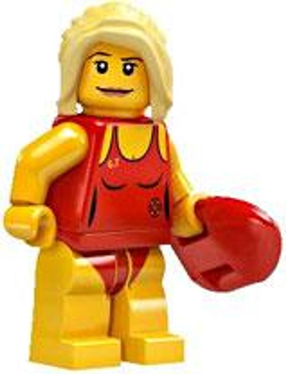 LEGO Minifigures Series 2 Bay Watch Life Guard Minifigure [Loose]