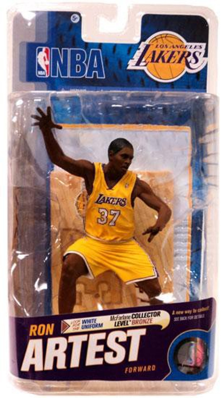 McFarlane Toys NBA Los Angeles Lakers Sports Picks Series 18 Ron Artest Action Figure [Yellow Jersey]