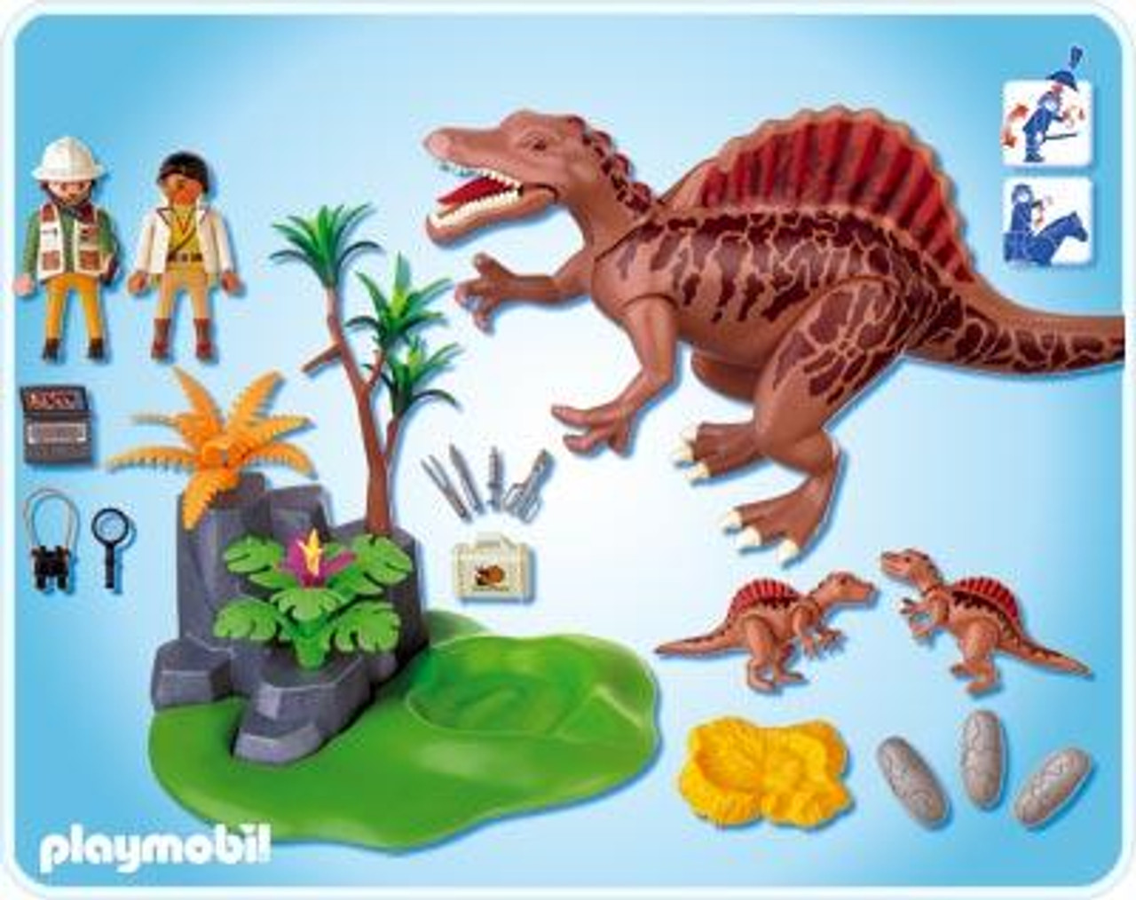 Playmobil dinos spinosaurus with dino nest set 4174 toywiz - Dinosaur playmobile ...