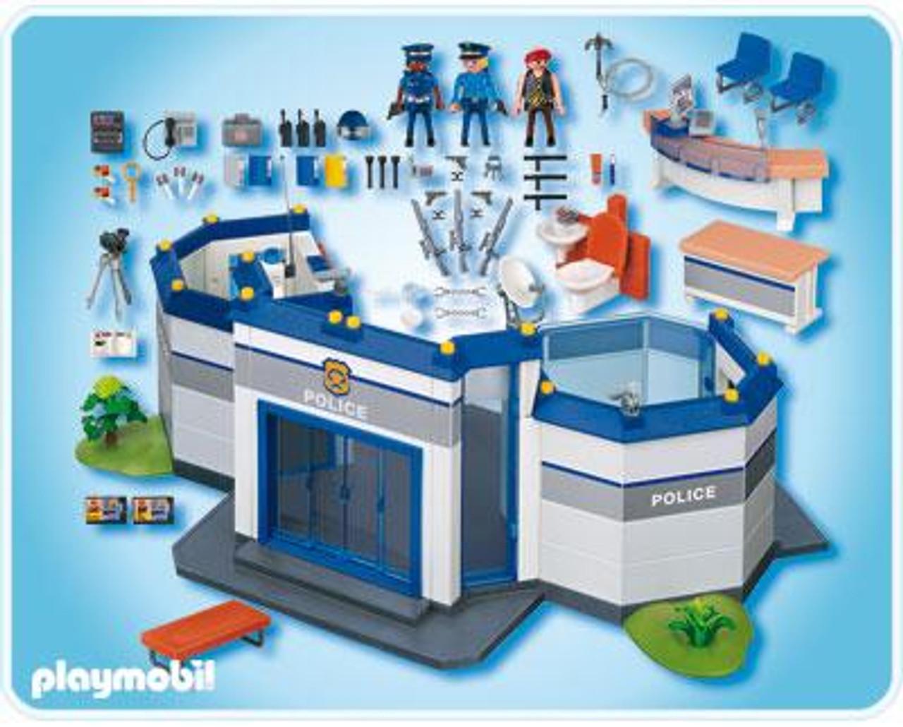 playmobil police headquarters set 4264 toywiz. Black Bedroom Furniture Sets. Home Design Ideas