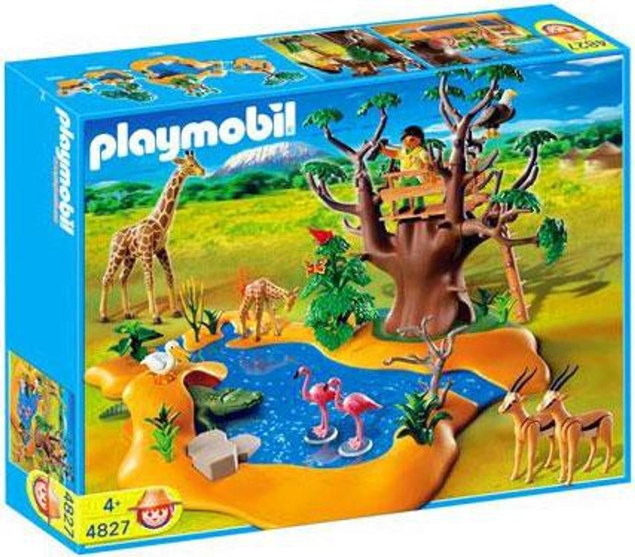 playmobil zoo african wildlife wild life waterhole set 4827 toywiz. Black Bedroom Furniture Sets. Home Design Ideas