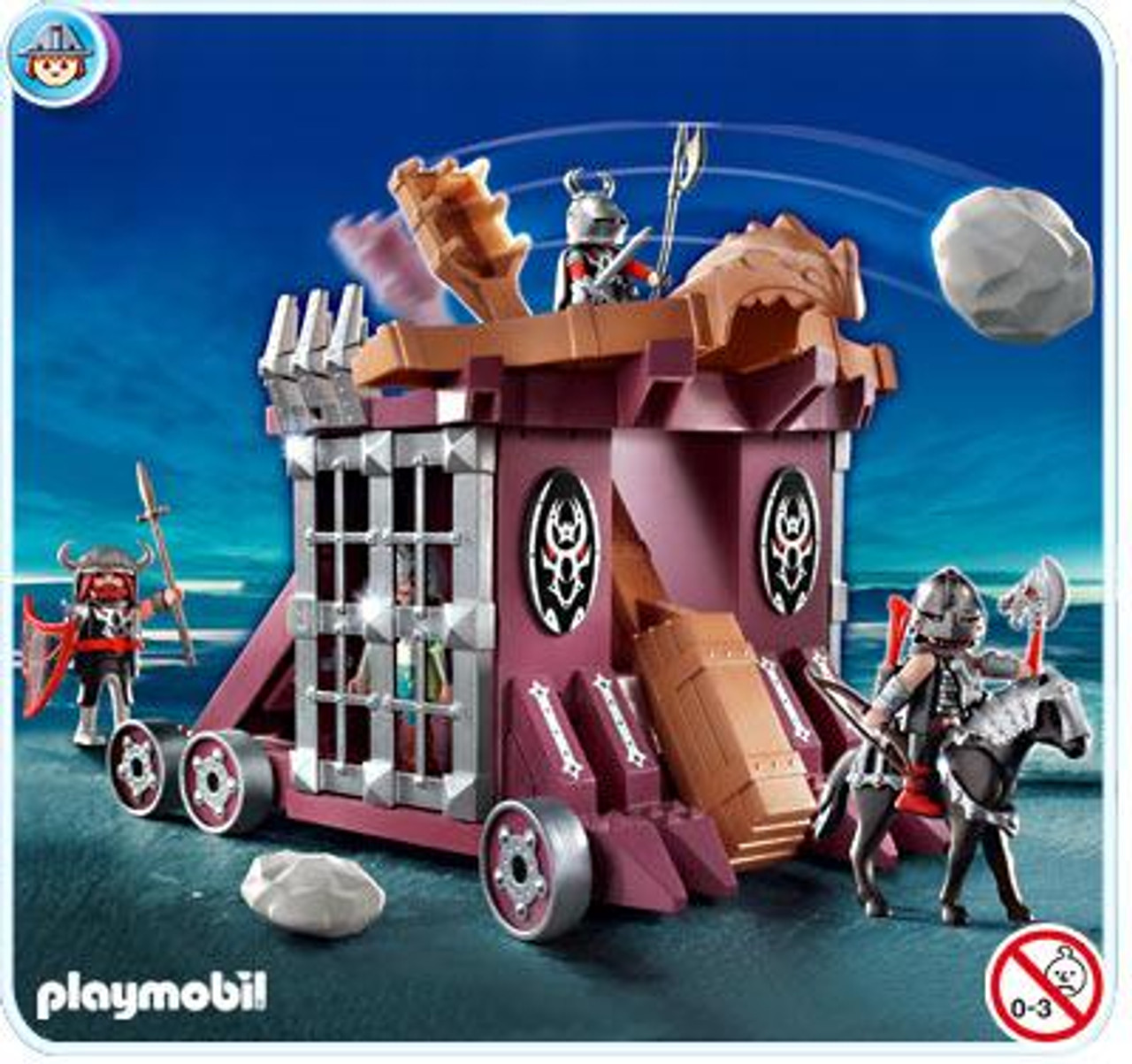 Playmobil Dragon Land Giant Catapult with Cell Set #4837