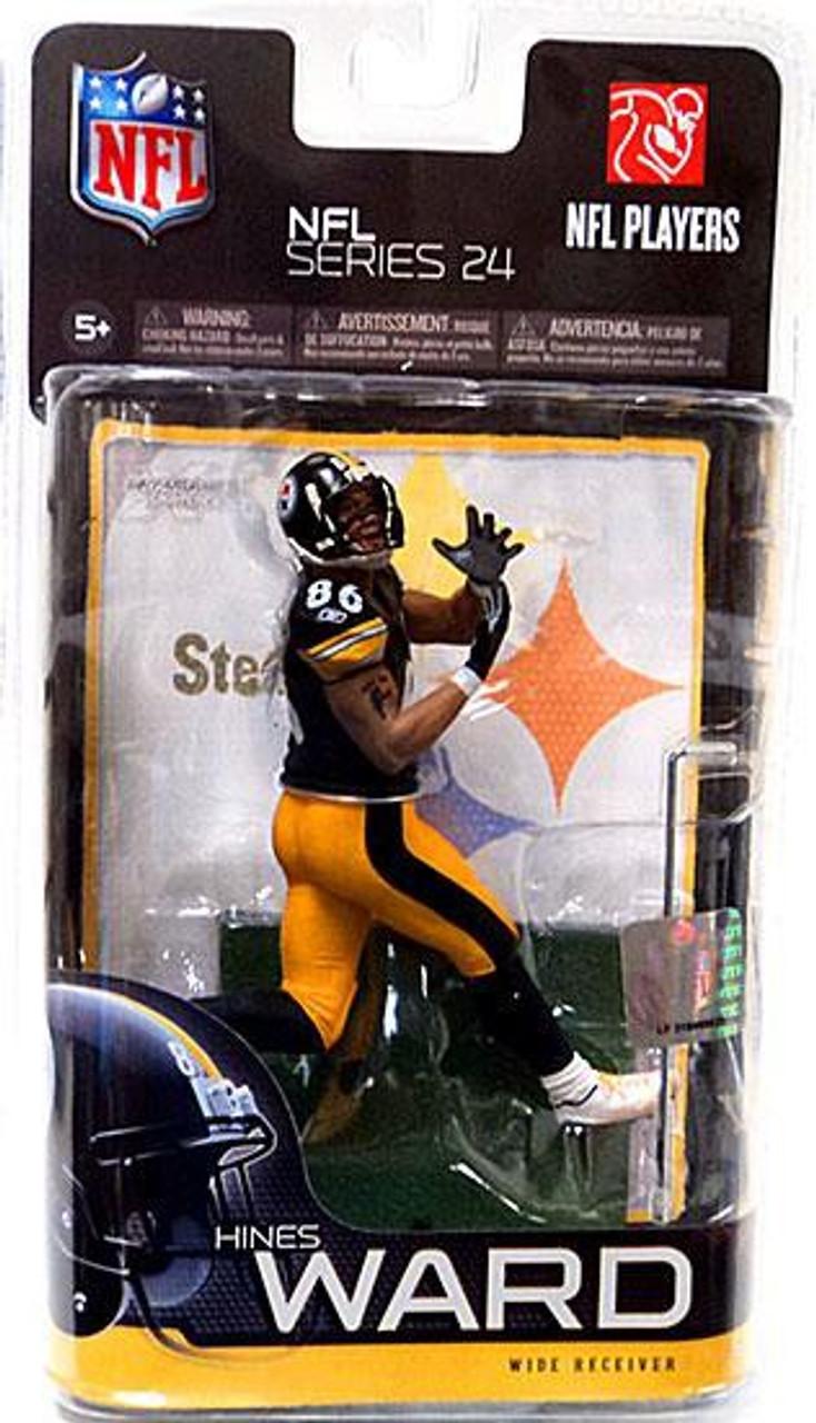 McFarlane Toys NFL Pittsburgh Steelers Sports Picks Series 24 Hines Ward Action Figure [Black Jersey]