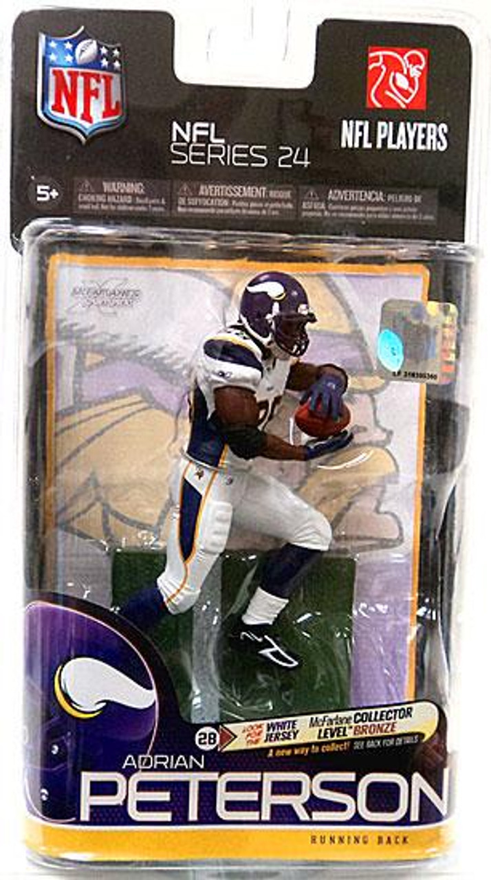 McFarlane Toys NFL Minnesota Vikings Sports Picks Series 24 Adrian Peterson Action Figure [White Jersey]