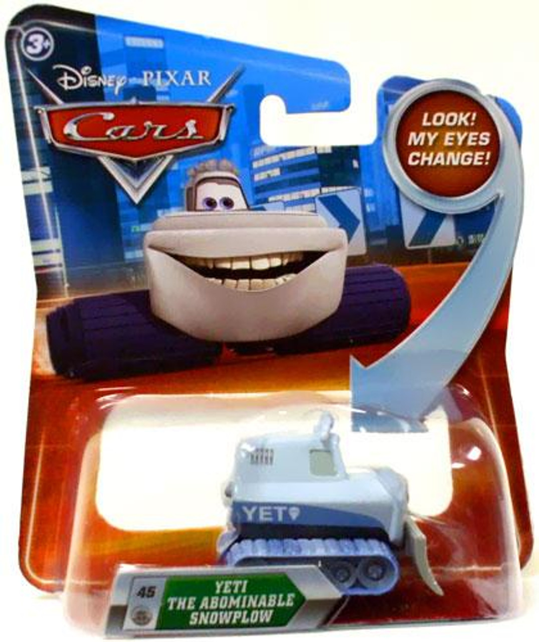 Disney Cars Lenticular Eyes Series 2 Yeti The Abominable Snowplow Diecast Car
