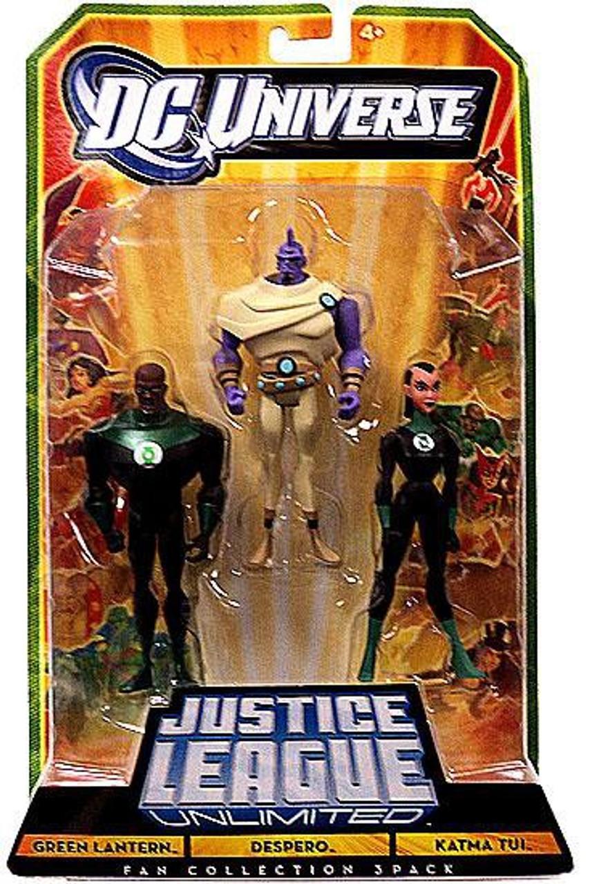 DC Universe Justice League Unlimited Fan Collection Green Lantern, Despero & Katma Tui Action Figures