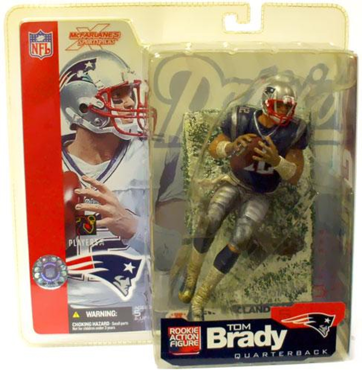 McFarlane Toys NFL New England Patriots Sports Picks Series 5 Tom Brady Action Figure [Blue Jersey Snow Variant]