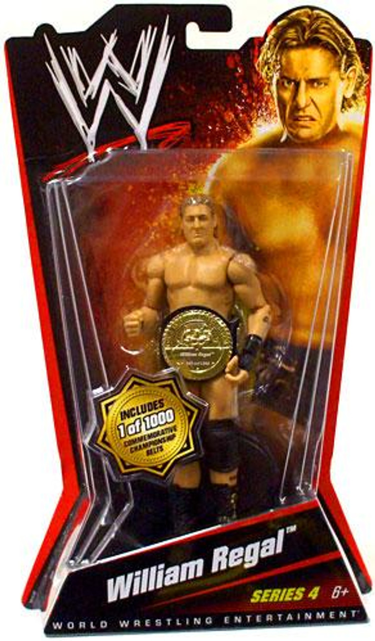 WWE Wrestling Series 4 William Regal Action Figure [With Belt]
