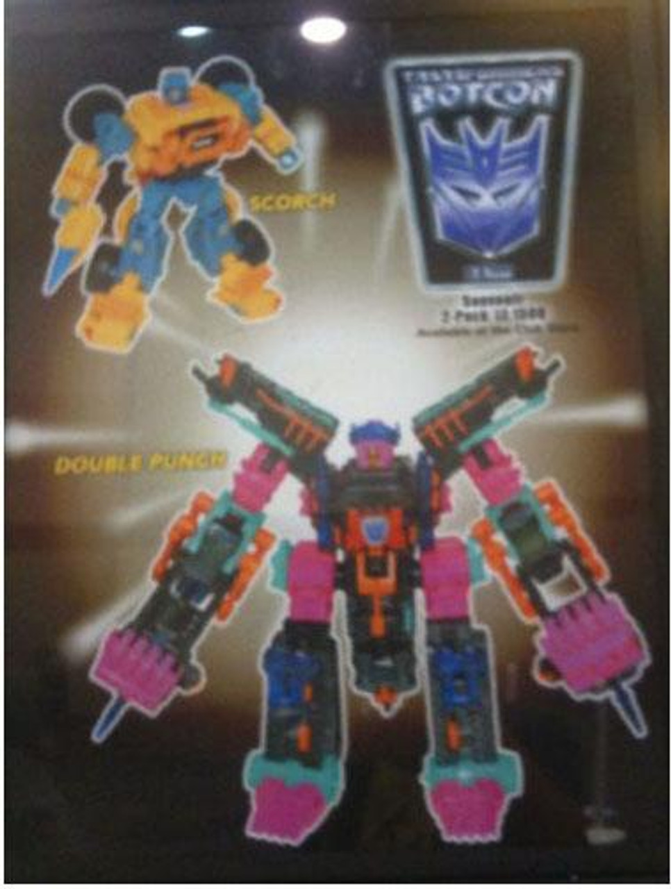 Transformers Timelines Botcon Exclusives Double Punch & Scorch Exclusive Action Figure 2-Pack