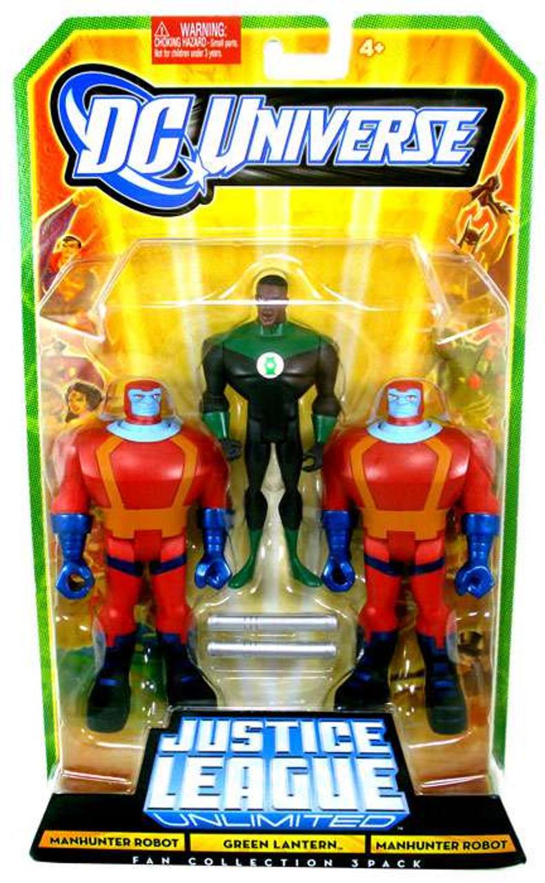 DC Universe Justice League Unlimited Fan Collection Manhunter Robot, Green Lantern & Manhunter Robot Action Figures