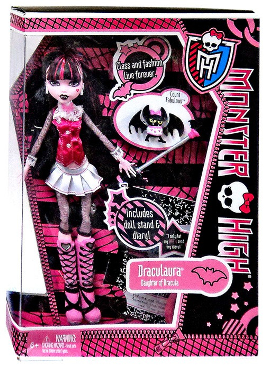 Monster High Draculaura 105 Doll With Count Fabulous Mattel Toys