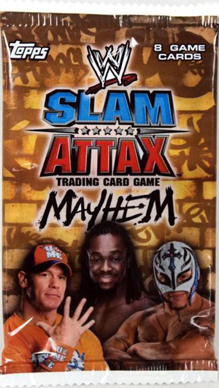 WWE Wrestling Slam Attax Mayhem Series 2 Booster Pack