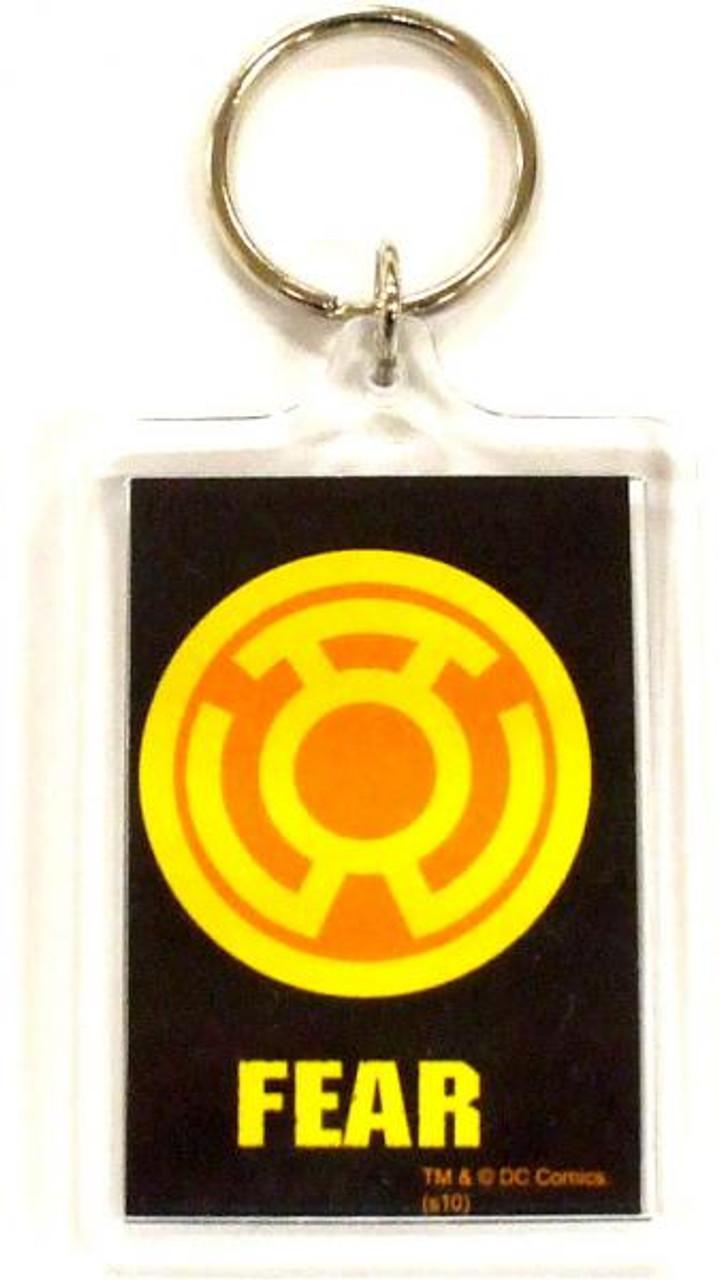 DC Green Lantern Blackest Night Yellow Fear Keychain