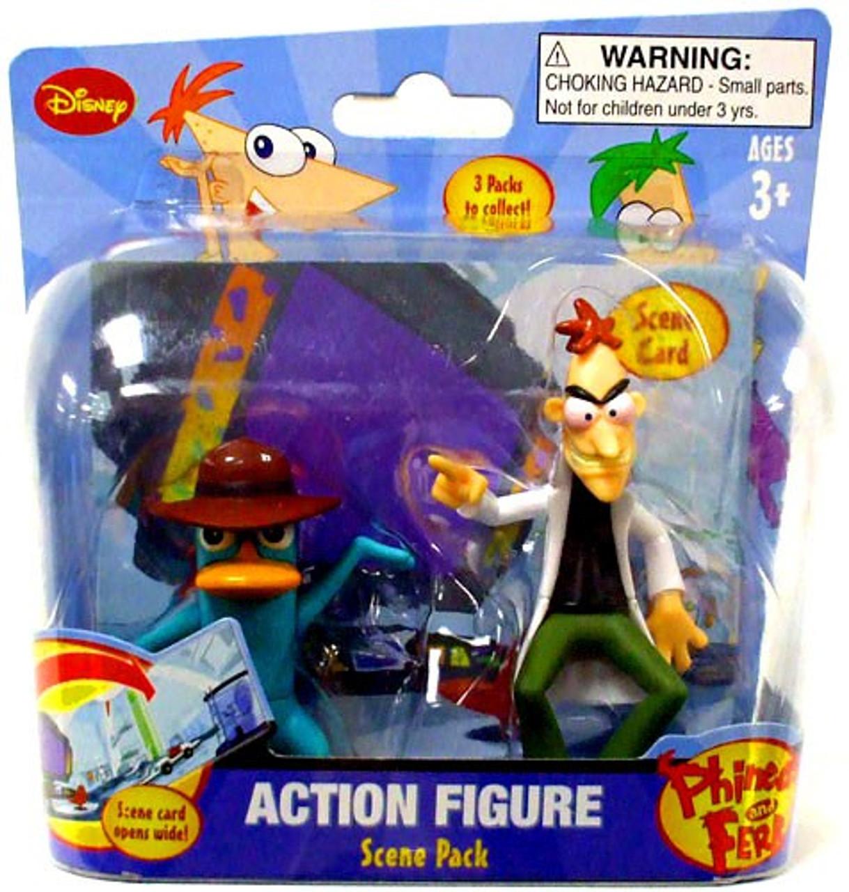 Disney Phineas and Ferb Scene Packs Dr. Doofenshmirtz & Agent P. Action Figure 2-Pack [Laboratory]