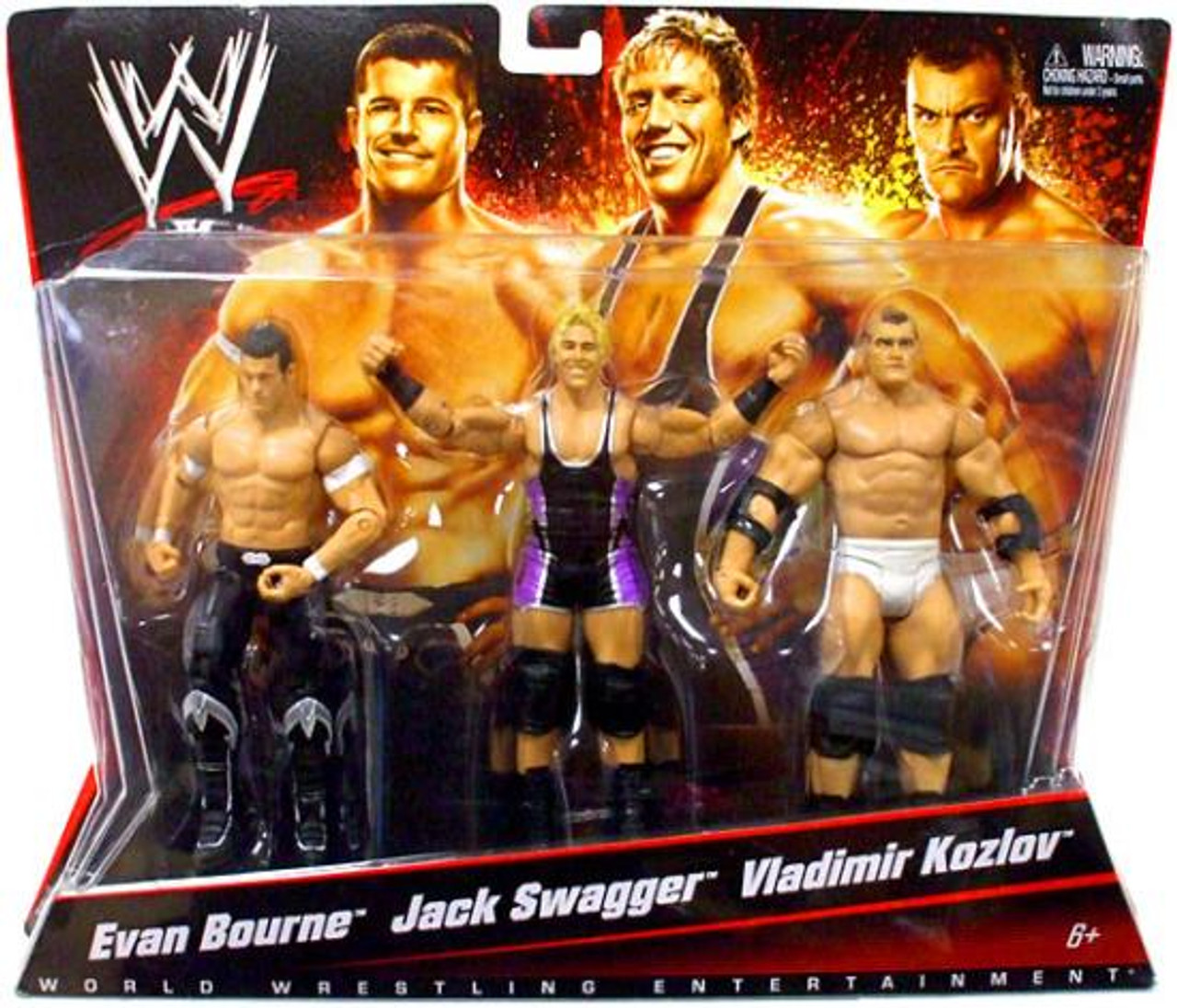 WWE Wrestling Evan Bourne, Jack Swagger & Vladimir Kozlov Exclusive Action Figure 3-Pack