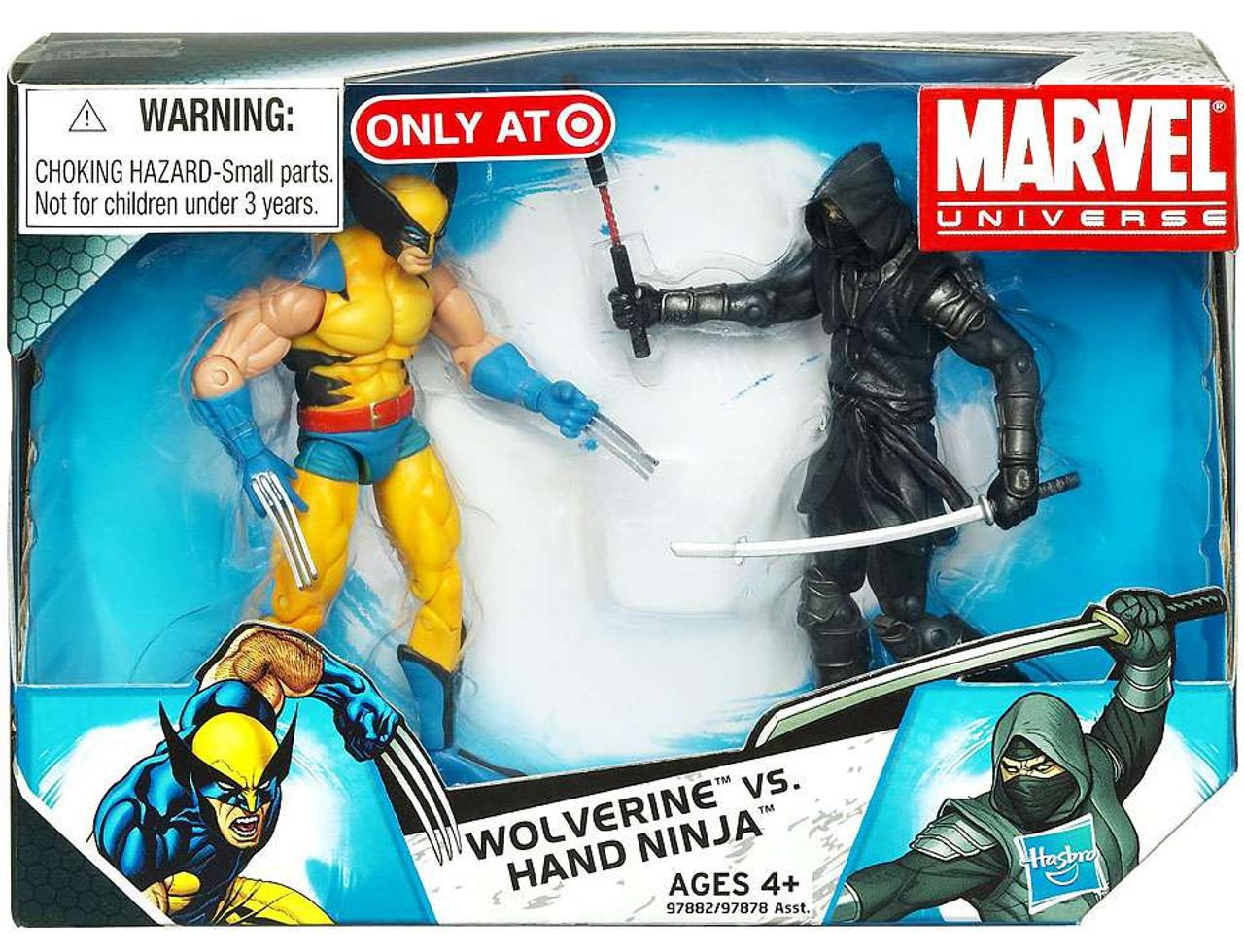 Marvel Universe Wolverine vs. Hand Ninja Exclusive Action Figure 2-Pack