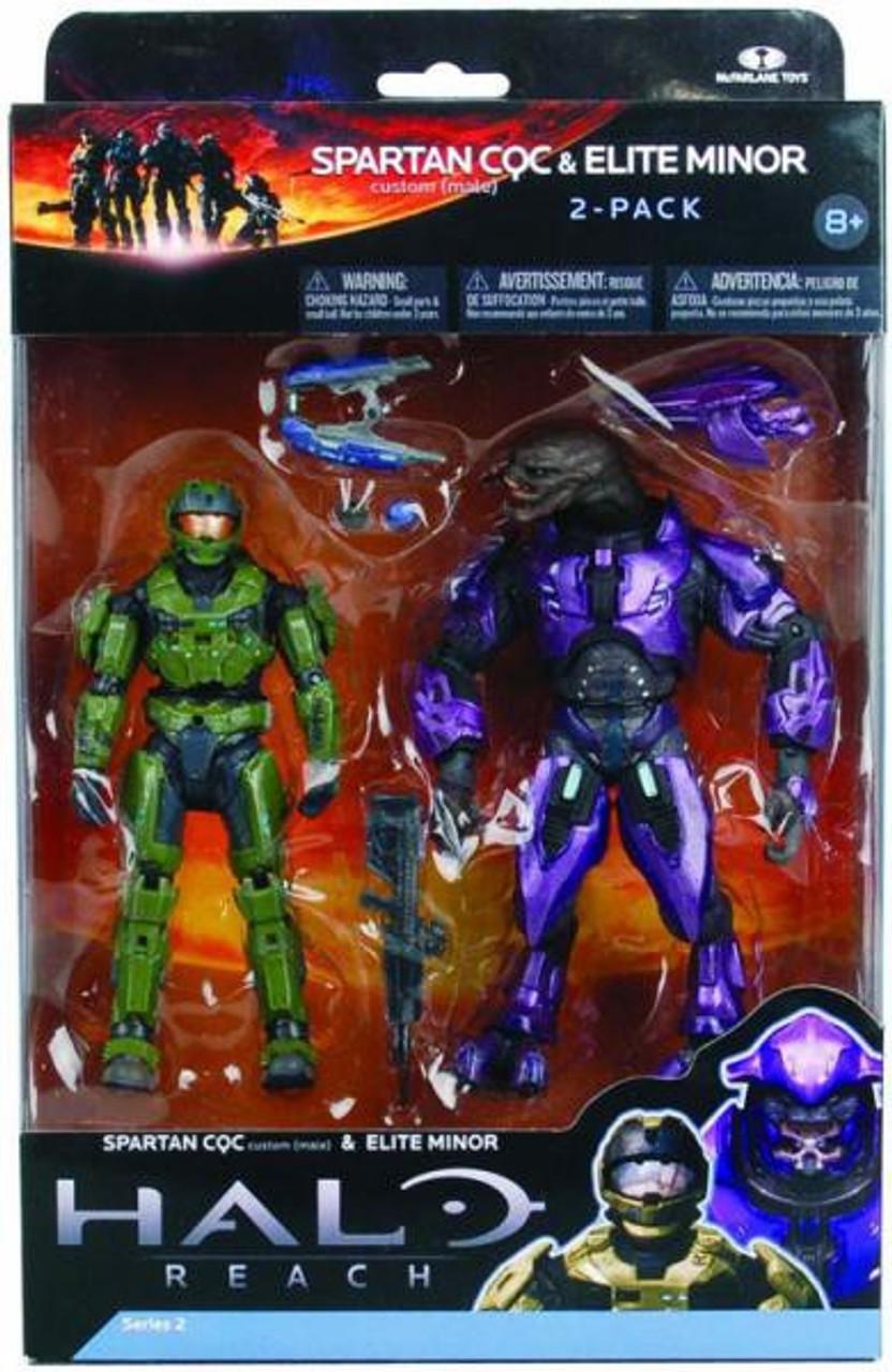 McFarlane Toys Halo Reach Series 2 Spartan CQC & Elite Minor Action Figure 2-Pack