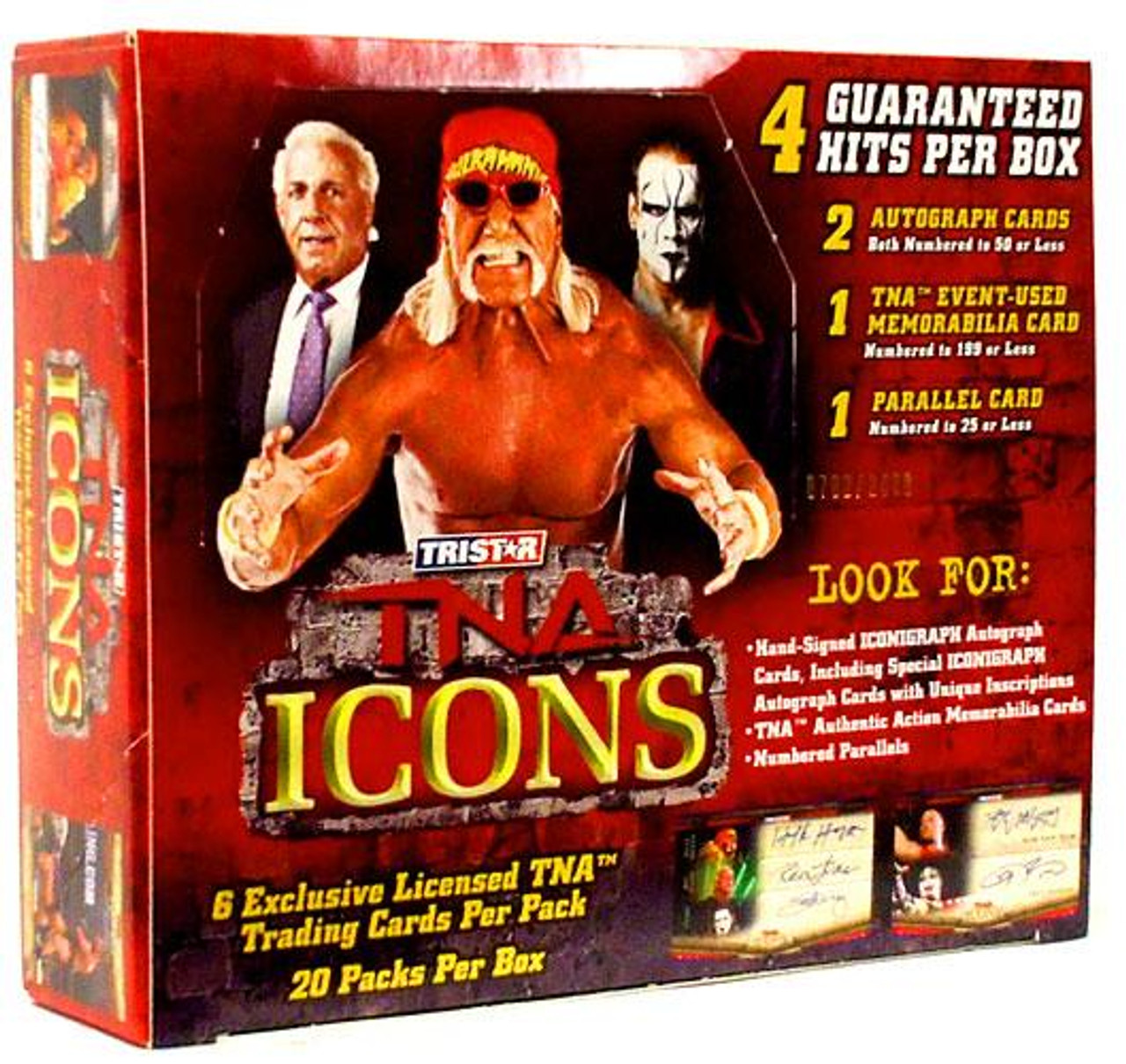 TNA Wrestling 2010 TNA Icons Trading Card Box