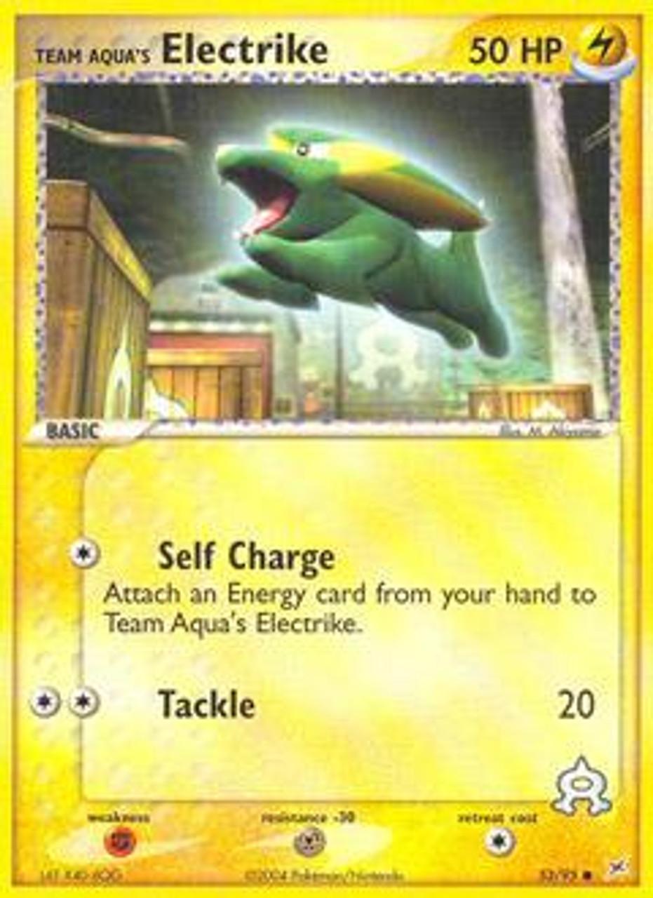 Pokemon EX Team Magma vs Team Aqua Common Team Aqua's Electrike #53