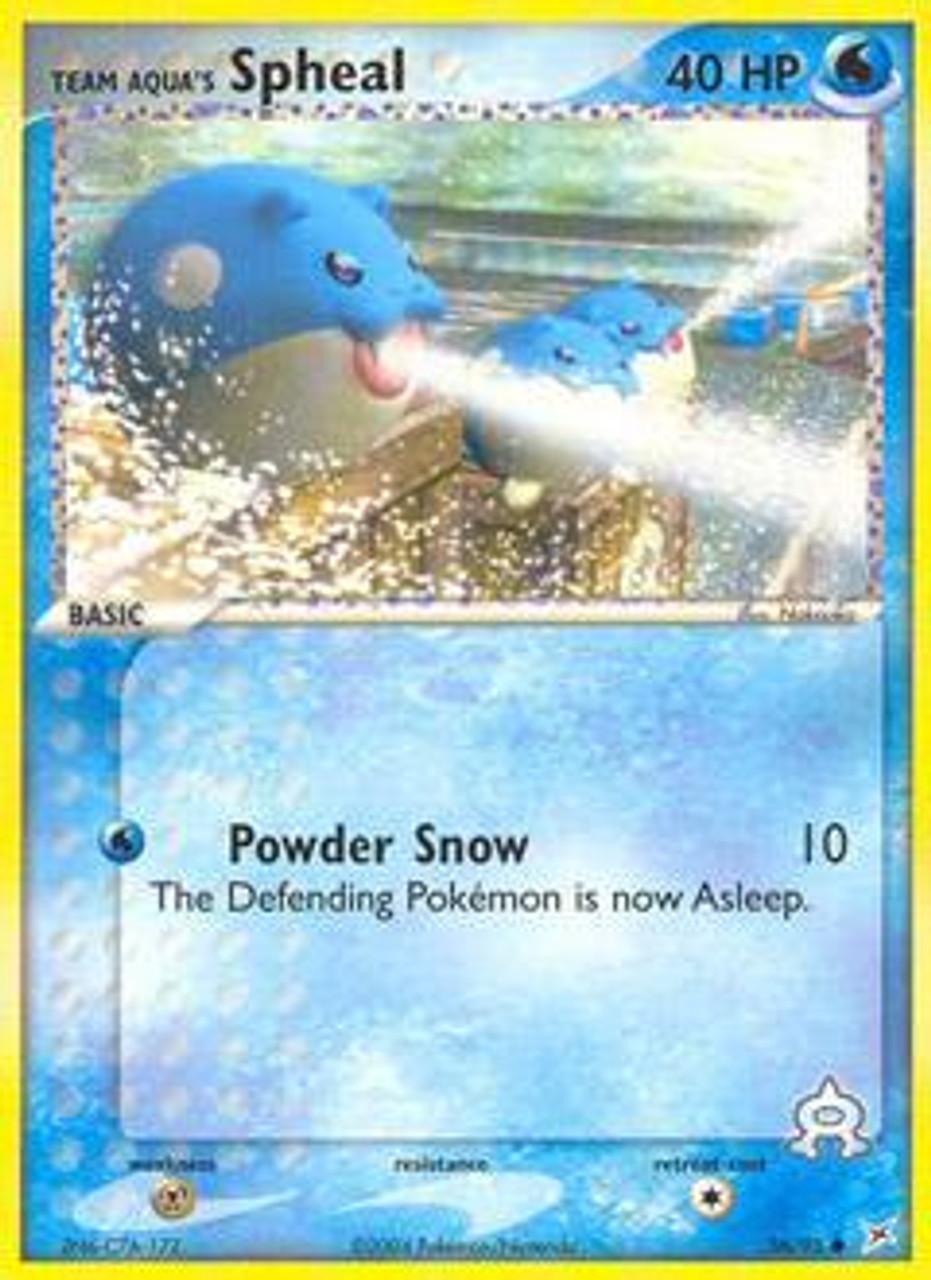 Pokemon EX Team Magma vs Team Aqua Common Team Aqua's Spheal #56