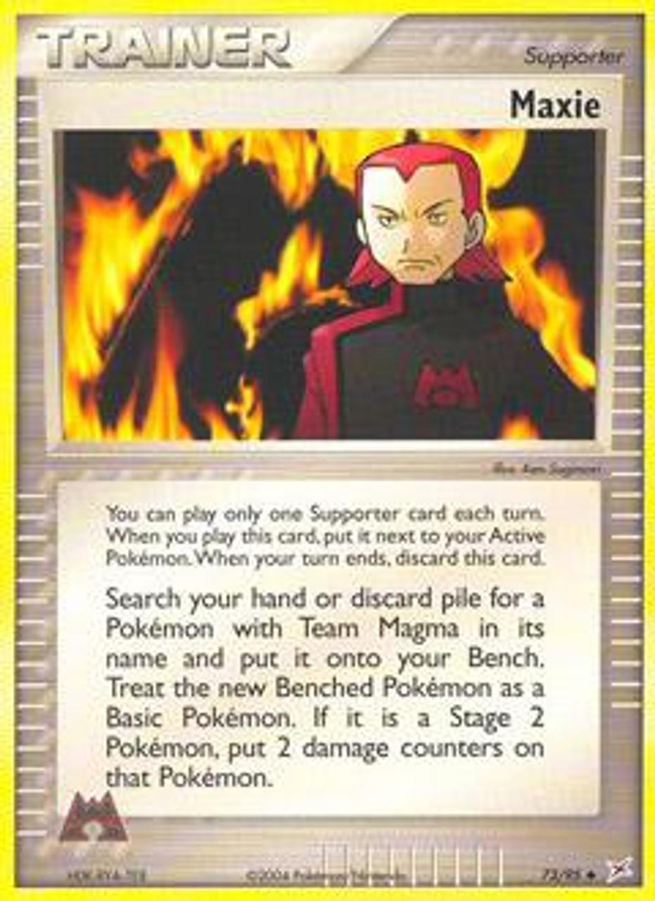 Pokemon EX Team Magma vs Team Aqua Uncommon Maxie #73