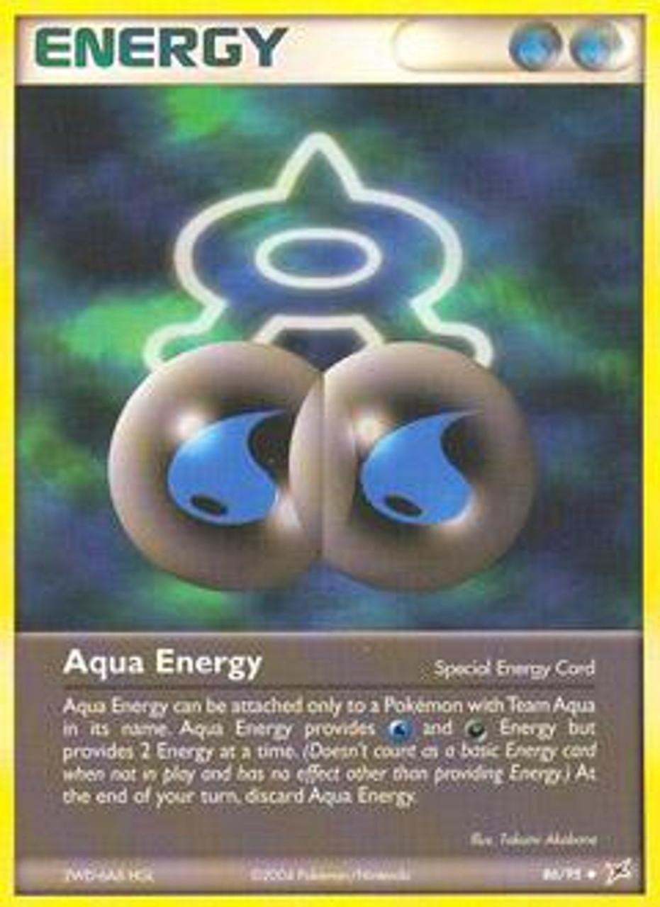 Pokemon EX Team Magma vs Team Aqua Uncommon Aqua Energy #86