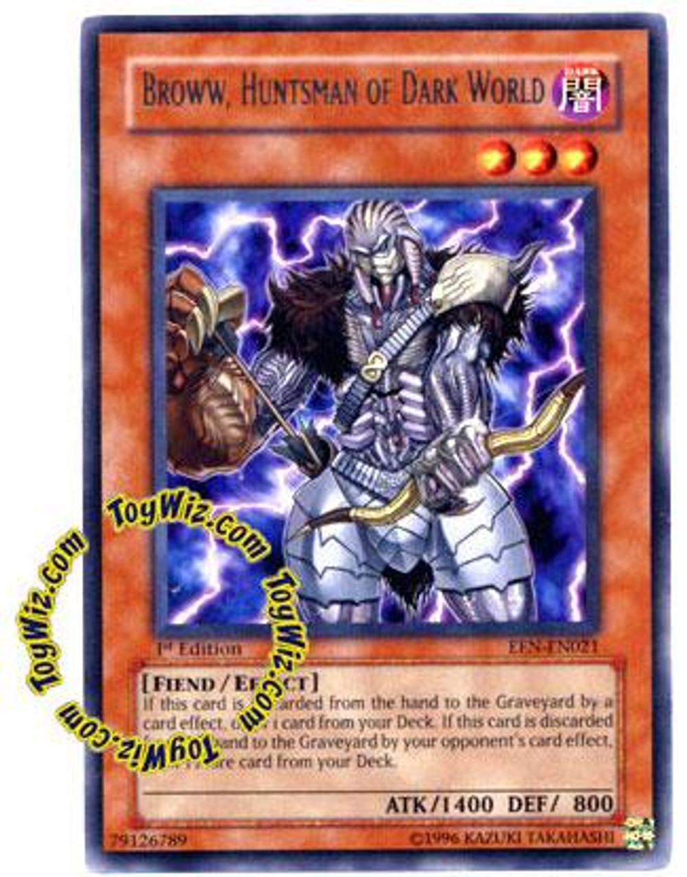 YuGiOh Elemental Energy Rare Broww, Huntsman of Dark World EEN-EN021