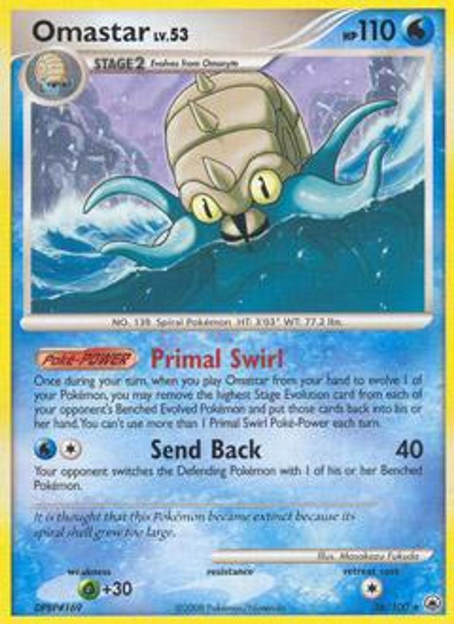 Pokemon Diamond & Pearl Majestic Dawn Rare Omastar #26