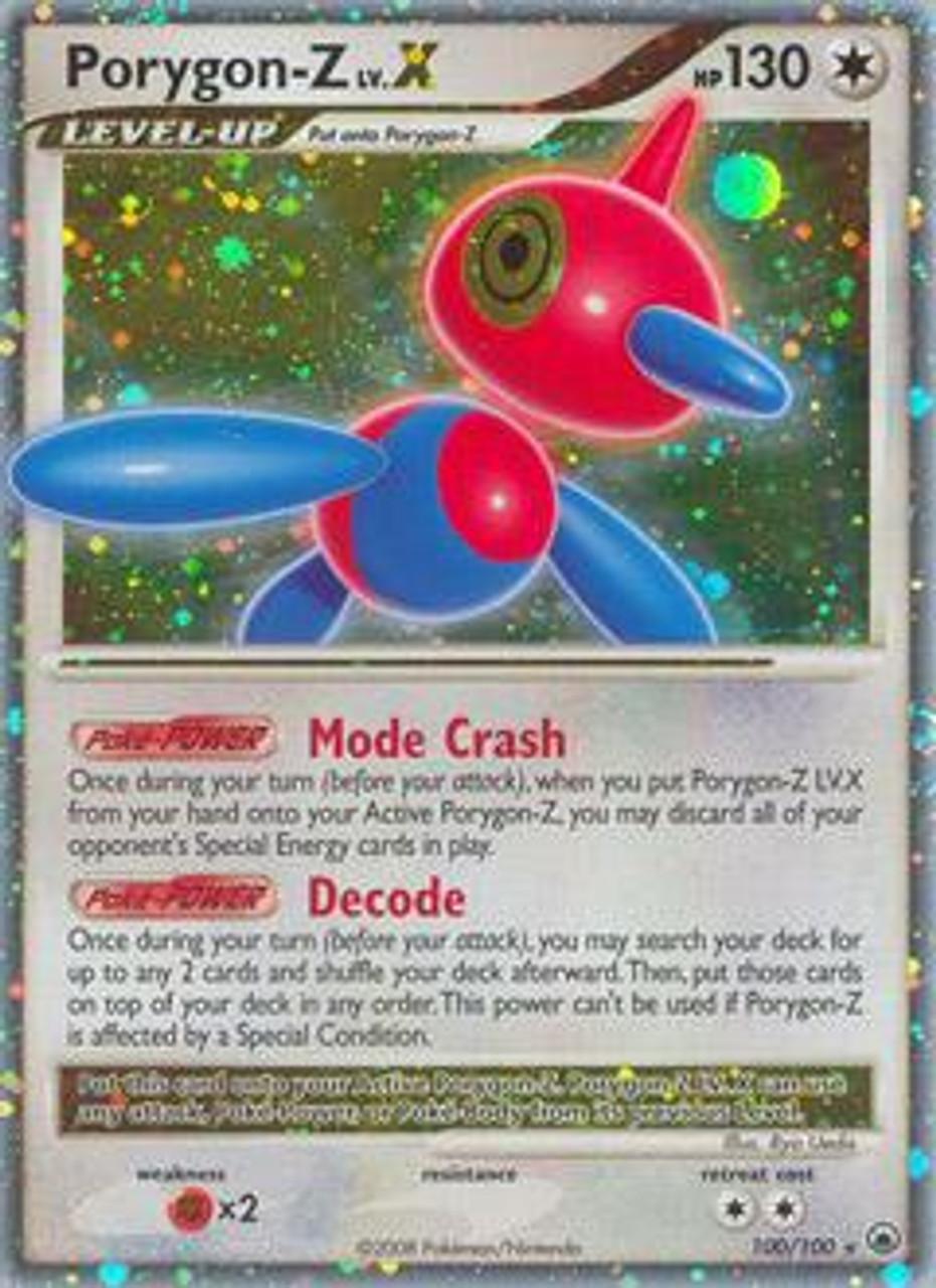 Pokemon Diamond & Pearl Majestic Dawn Ultra Rare Holo LV.X Porygon-Z LV.X #100