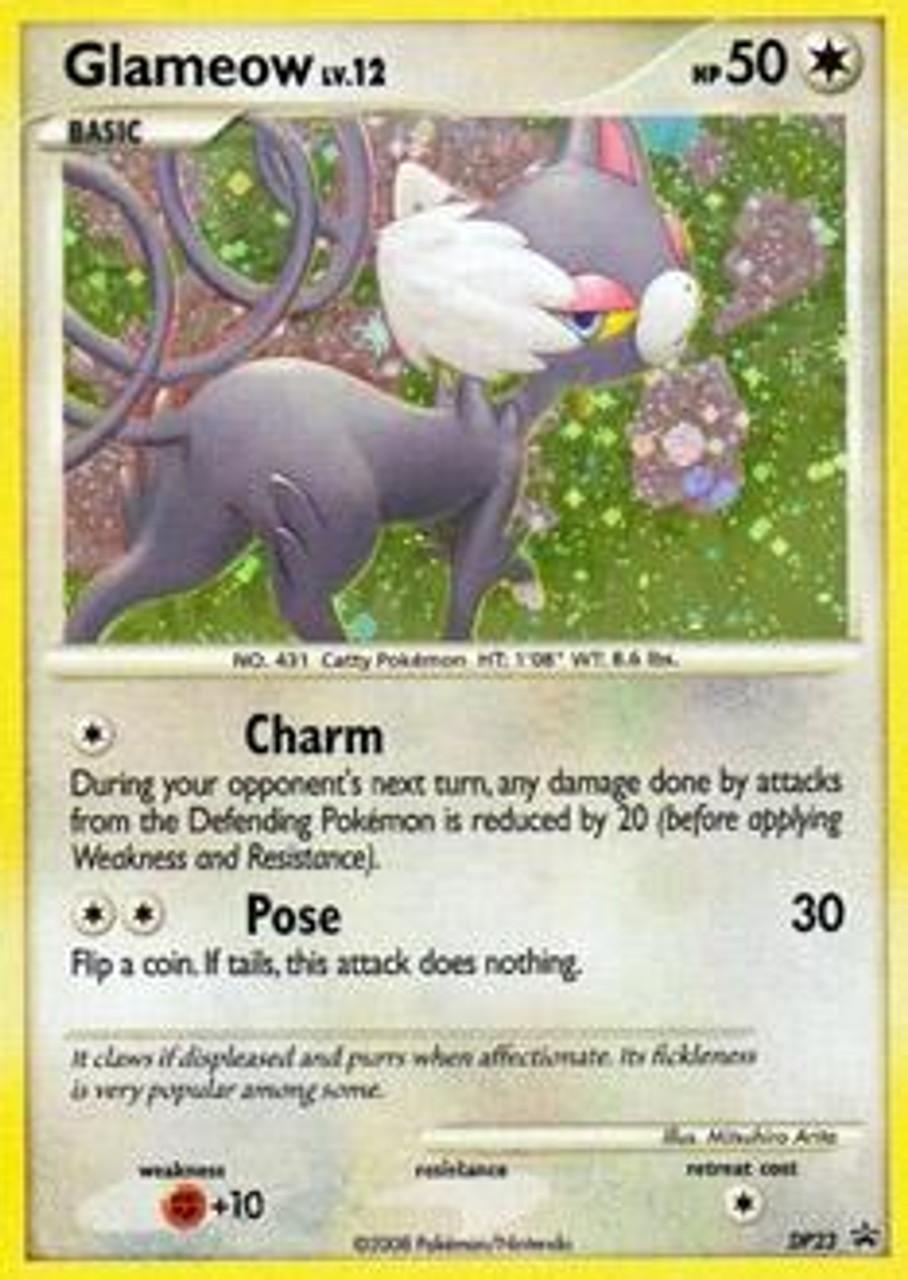 Pokemon Diamond & Pearl Promo Rare Holo Glameow DP23
